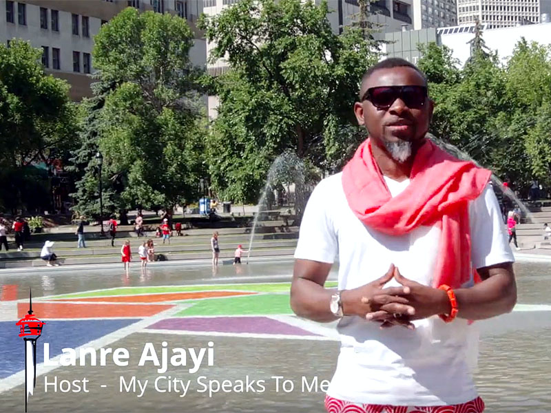 Lanre Ajayi at Olympic Plaza