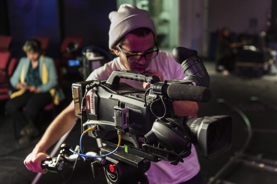 Photograph of video technician