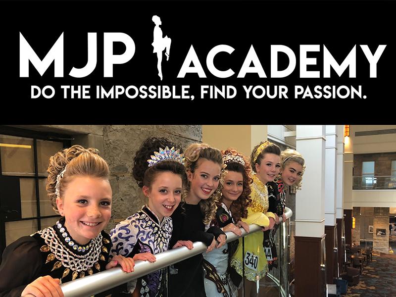 Performers and branding for MJP Academy of Irish Dance