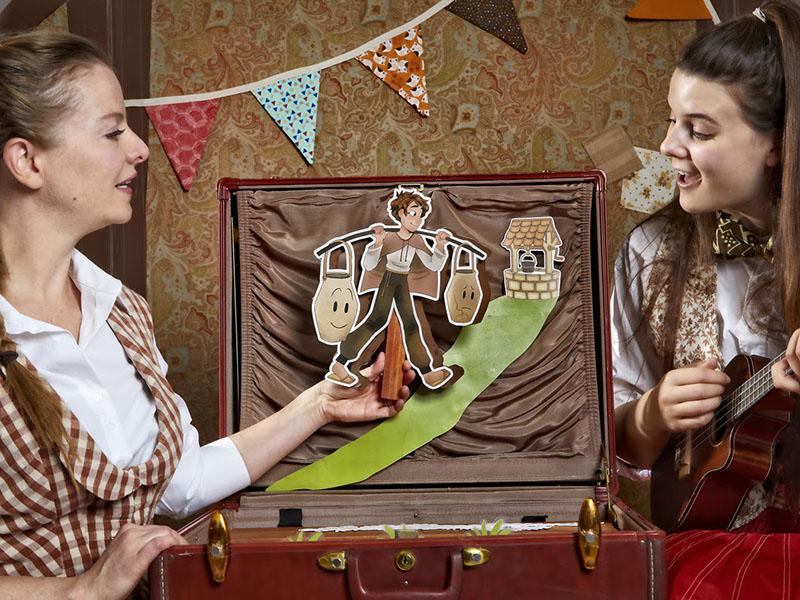 The cast of Quest Theatre's Flibbertigibbet's Story Exhibit