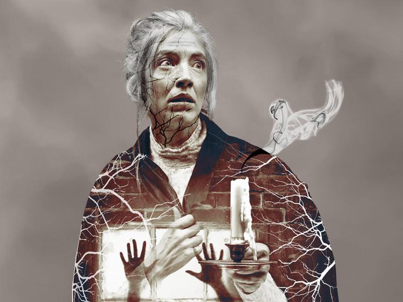A graphic for Whispers in the Dark at Vertigo Theatre