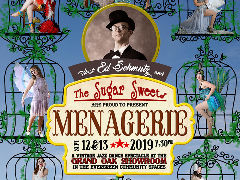 A poster for The Sugar Sweets Present: Menagerie