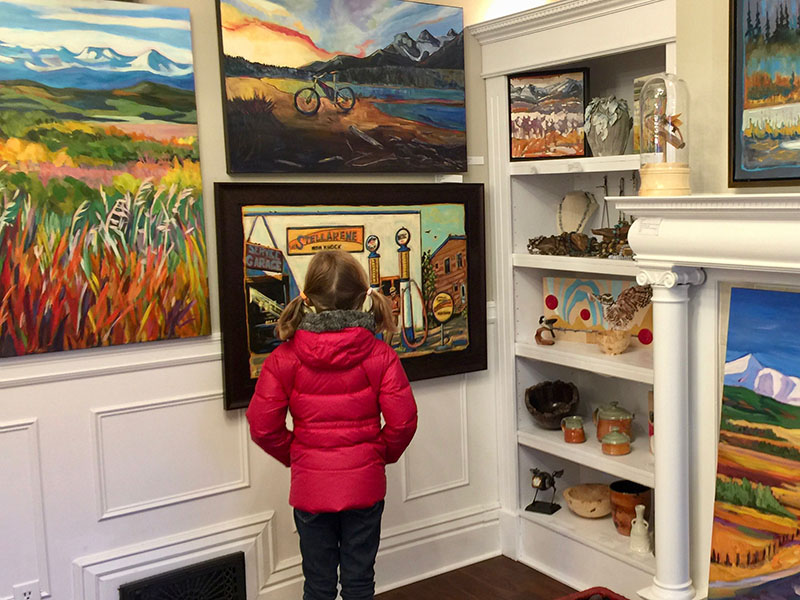 A girl explores the Lineham House Galleries