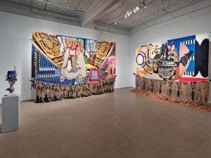 An installation view of Nep Sidhu's Medicine for a Nightmare (they called, we responded)