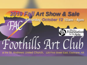 A poster for the Foothills Art Club Fall Art Show & Sale