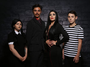 The cast of The Addams Family at Front Row Centre