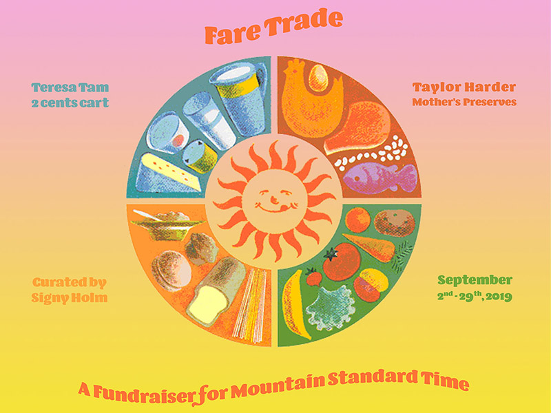 A graphic for Fare Trade: A Fundraiser for Mountain Standard Time