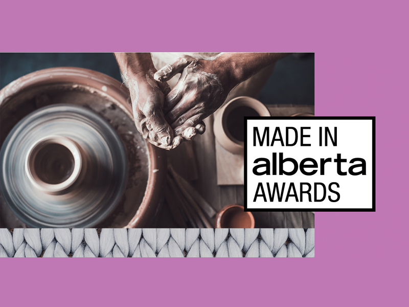 A graphic promoting the Made in Alberta Awards