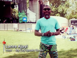 Lanre Ajayi at the Calgary Folk Music Festival