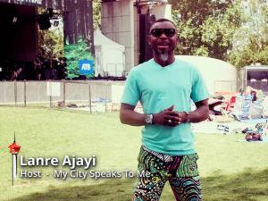 Lanre Ajayi at the Calgary Folk Music Festival