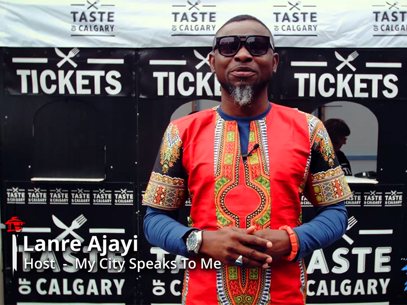 Lanre Ajayi at the Taste of Calgary