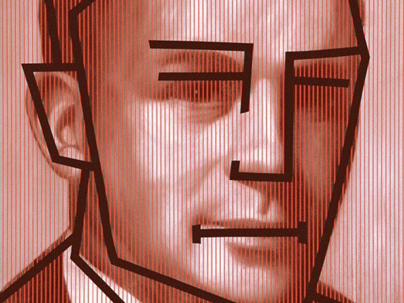 Detail of Chris Cran's Red Man/Black Cartoon