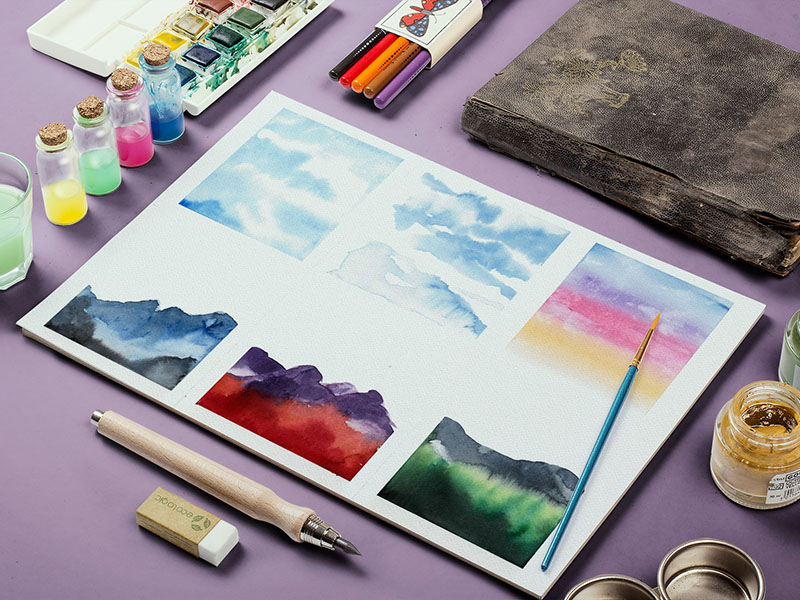 A water colour painting by Maya Corona