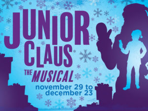 A poster for Junior Claus at StoryBook Theatre