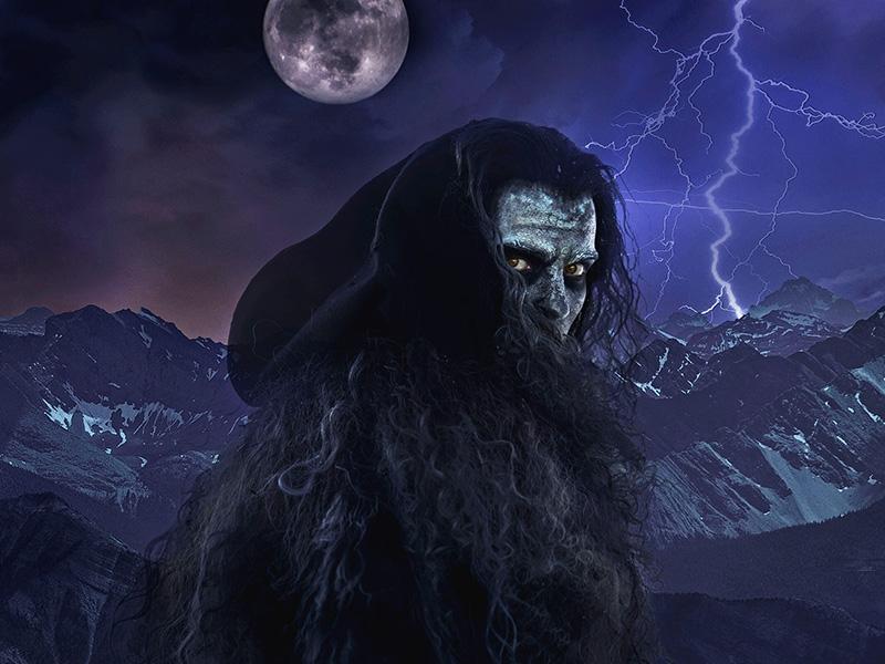 A photo of Frankenstein's monster