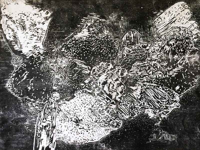 Detail of Lisa Matthias' Airborne