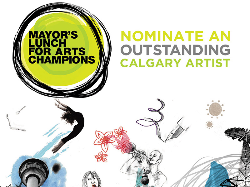 Mayor's Lunch for Arts Champions, nominate an outstanding Calgary Artist