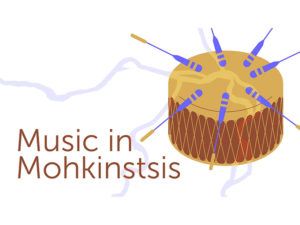 A graphic for Music in Mohkinstsis at the Calgary Public Library