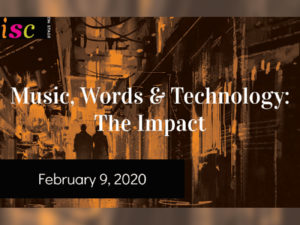 A graphic for Music, Words & Technology: The Impact