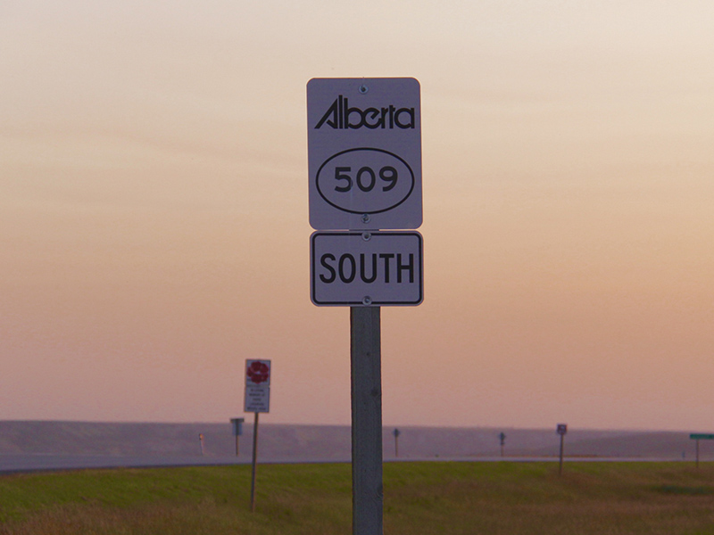 A photo of Alberta Highway 509