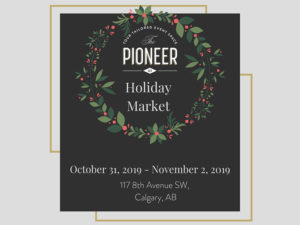 A graphic for the 2019 Pioneer Holiday Market