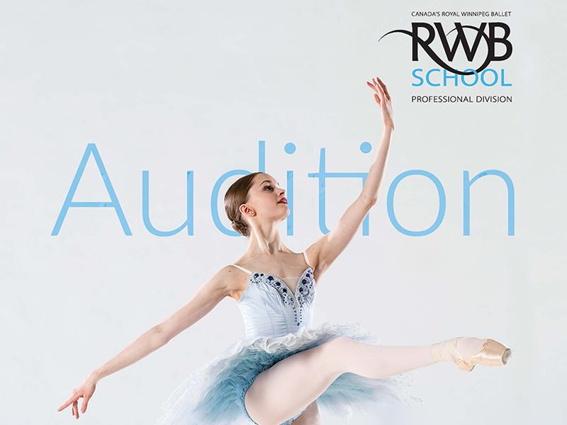 Royal Winnipeg Ballet School Audition Tour logo