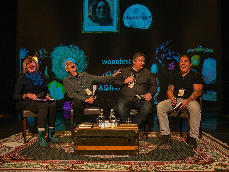 Authors on stage at last year's Imaginairium festival