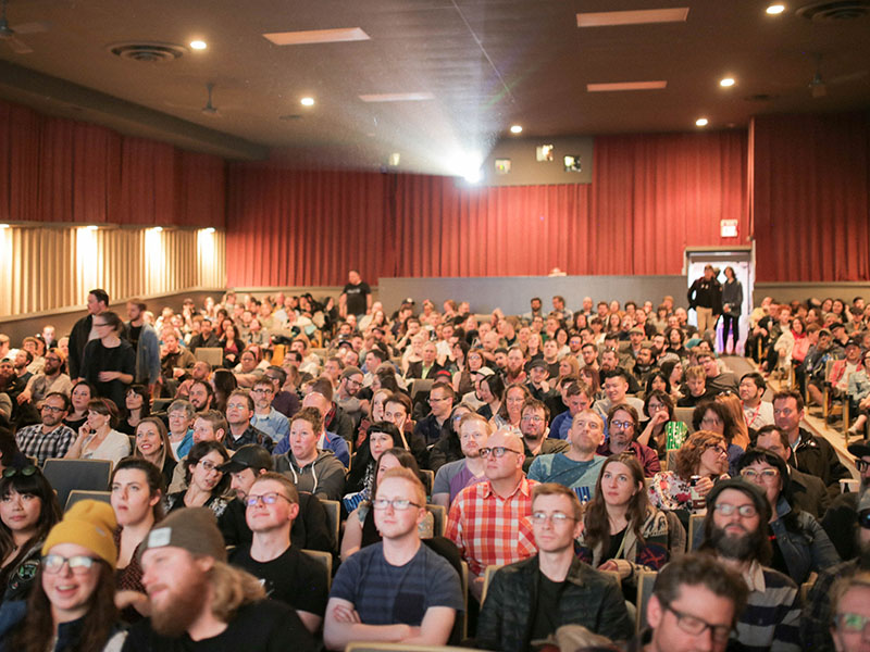 An audience at CUFF.Docs