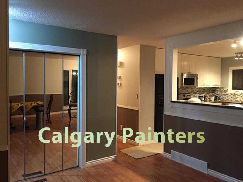 A photo of a room with Calgary Painters overlaid on it