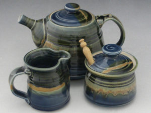 An Azure Teaset by Connie Pike