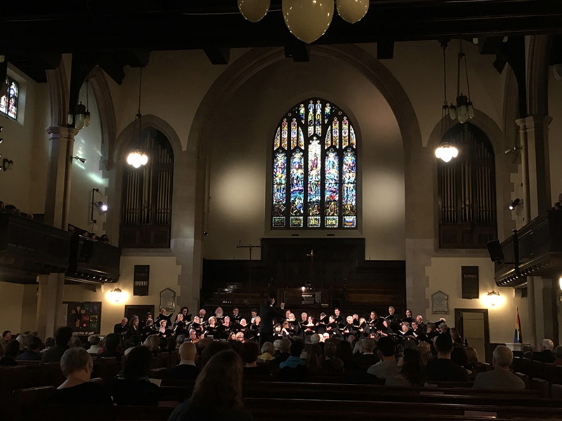 The Calgary Bach Choir on stage