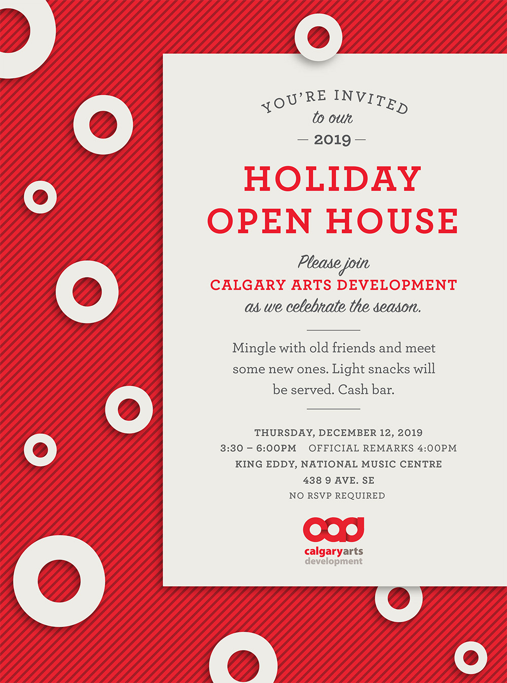 Please join Calgary Arts Development as we celebrate the season