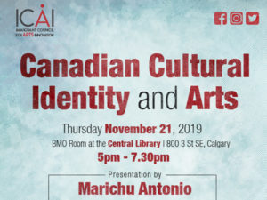 A graphic for Navigating through Canadian Cultural Identity and Arts