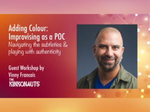A graphic for the workshop Adding Colour - Improvising as a POC
