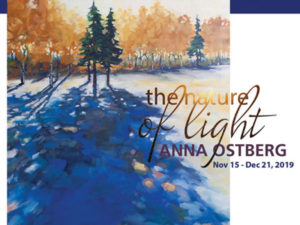 An art card for The Nature of Light at Ruberto Ostberg Gallery