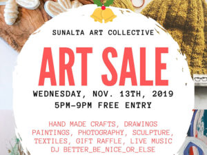 A graphic for the Sunalta Artist Collective Art Sale