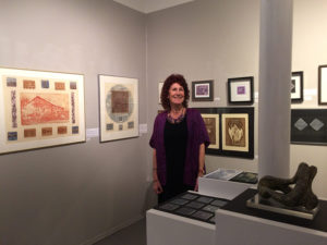 Carole Bondaroff and her work on display in Honouring the Passage