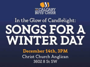 A poster for In the Glow of Candlelight: Songs for a Winter Day