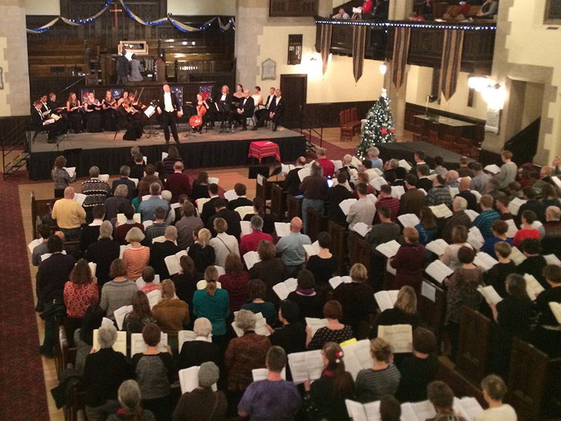 The audience at Sing Along Messiah