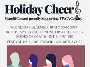 A poster for Holiday Cheer Benefit Concert