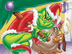 A poster for How the Grinch Stole Christmas
