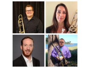 A photo collage promoting Rocky Mountain Symphony Brass Quartet with Organ
