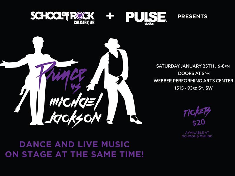 A poster for Prince vs Michael Jackson