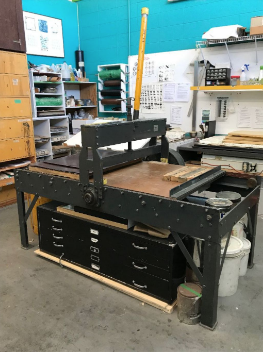 A photo of the graphic lithograph press that is for sale