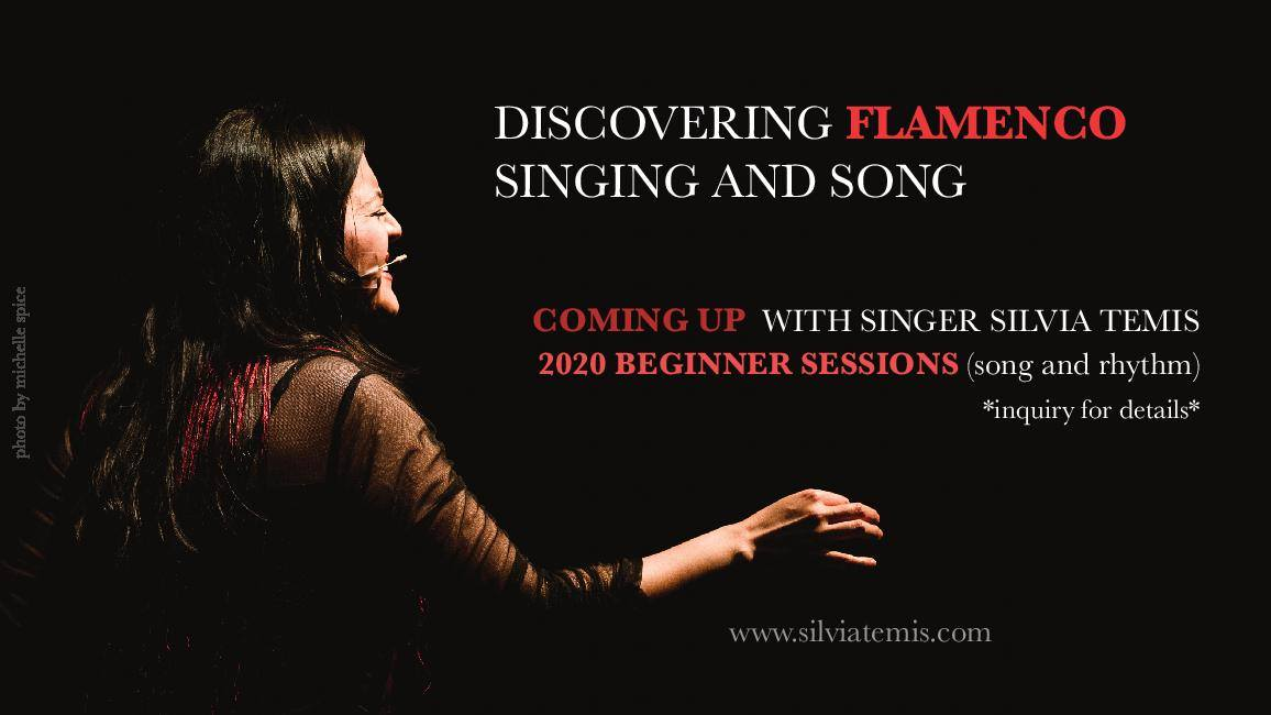 A graphic promoting Discovering Flamenco Singing and Song