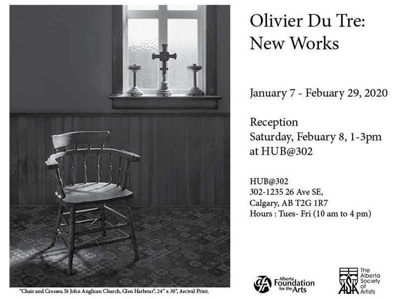 A poster for Olivier Du Tre: New Works