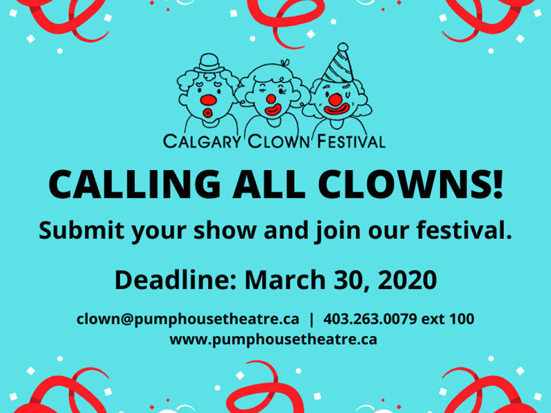 Submit your show and join our festival – Deadline: March 30, 2020