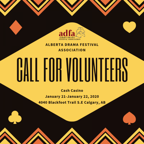 ADFA Call for Volunteers flyer – January 21 & 22, 2020