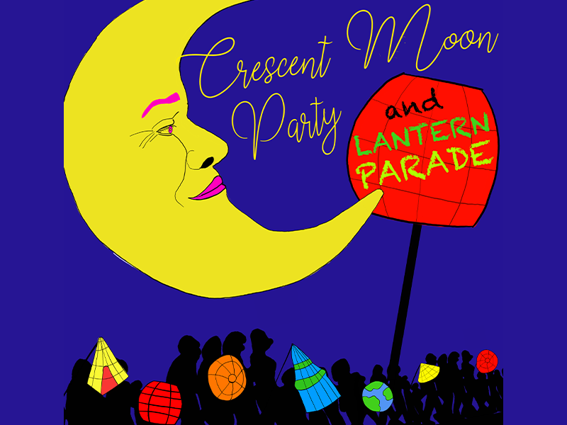 Crescent Moon & Lantern Party poster