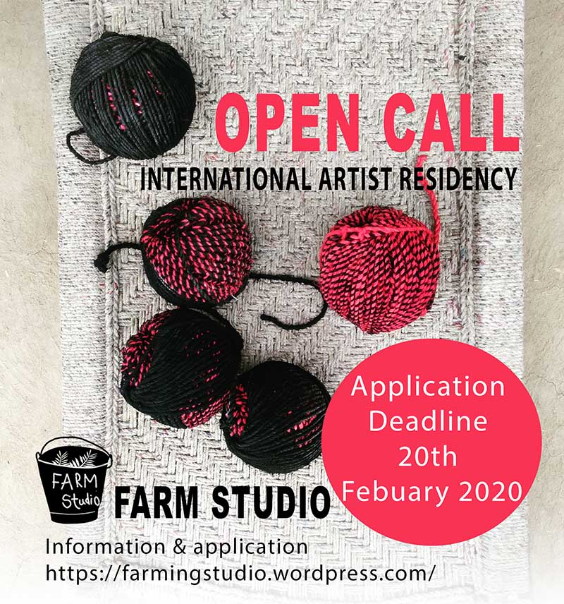 A graphic that says Open Call International Artist Residency